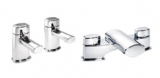 Pegler Opal Quarter Turn Basin Taps and Bath Filler Chrome